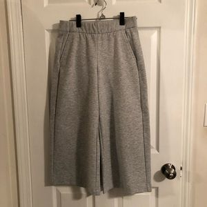 Heather gray Gap wide-leg culottes style pants.